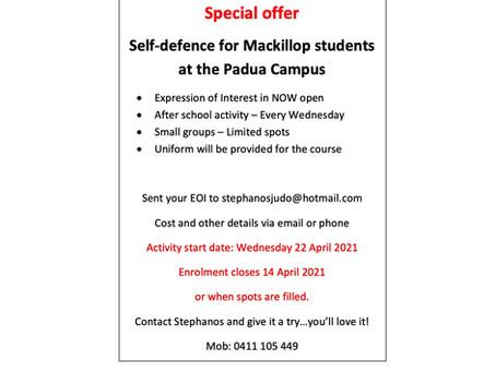 After school judo/self defence