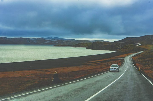 Overlooking Kleifarvatn Lake, black sand beaches, in Southern Iceland.jpg  This is also where we went to shoot the Northern lights.jpg