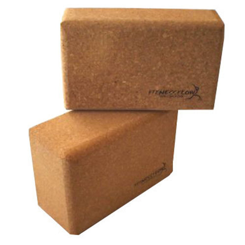 "Used 4"" NATURAL CORK YOGA BLOCK"