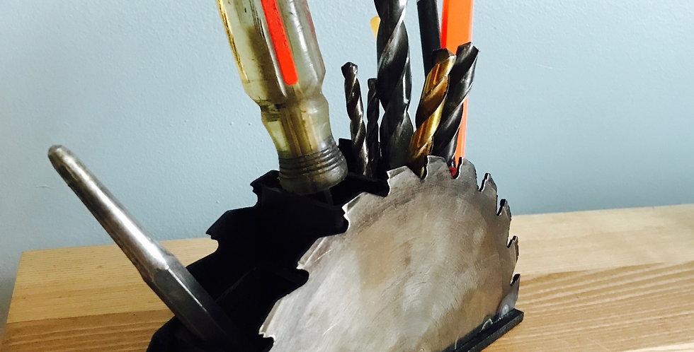 Saw Blade Desk/Tool Organizer