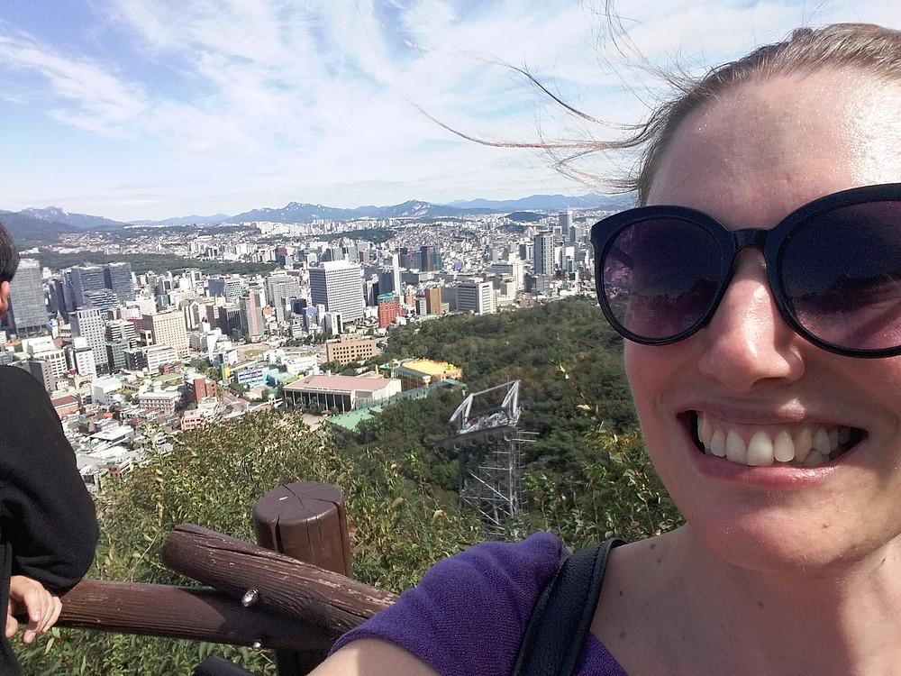 Walking up Namsan to N. Seoul Tower