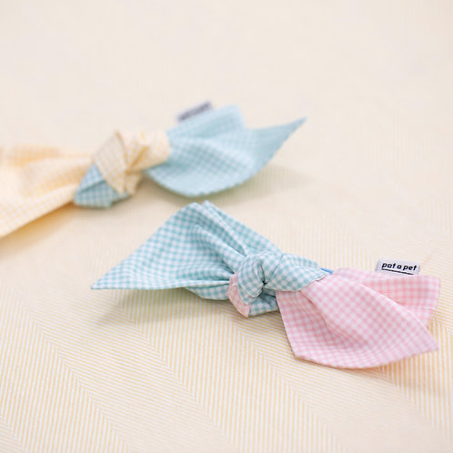 """""""Tie It Yourself"""" Gingham Check Bow"""