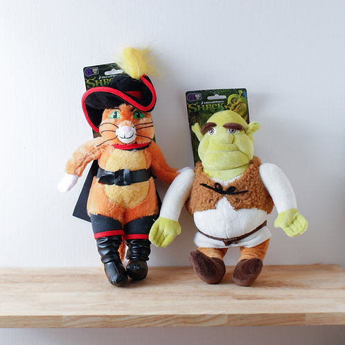 """""""Shrek"""" & """"Puss in Boots"""" Dog Toy"""