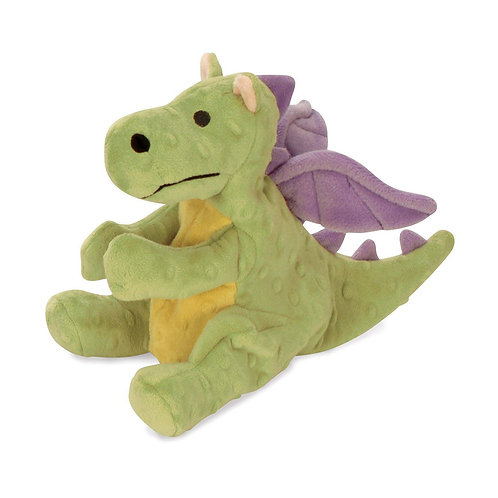 Large Lime Dragon With Chew Guard Technology Tough Plush Dog Toy