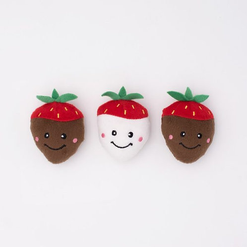 Valentine's Miniz 3-Pack Chocolate Covered Strawberries