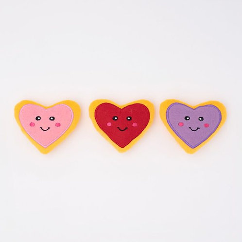 Valentine's Miniz 3-Pack Heart Cookies
