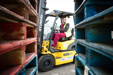 forklift and driver