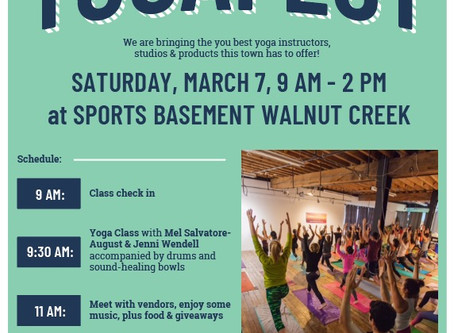 YogaFest March 7th Walnut Creek