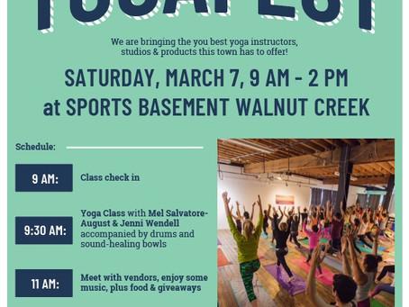 YogaFest March 7th Walnut Creek