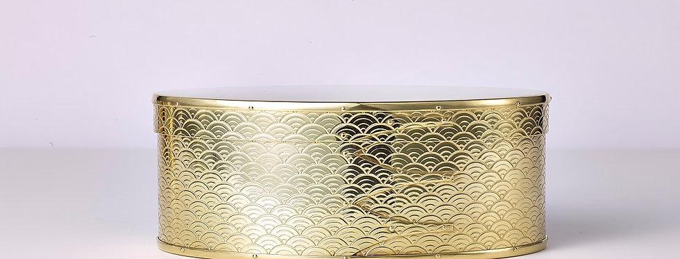 錺之-KAZARINO- Oval Box 真鍮 / 青海波