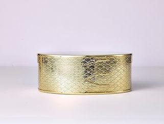 錺之 オーバルボックス  (真鍮・青海波)