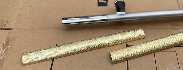 真鍮製取っ手カバー本体2枚1組