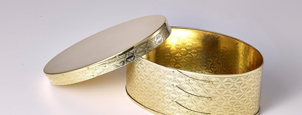 錺之-KAZARINO- Oval Box 真鍮 / 七宝
