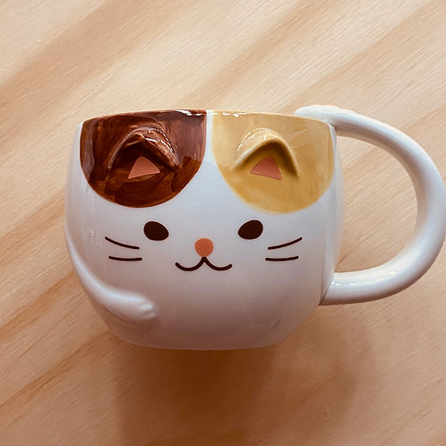 Kitty cat mug with paws and tail