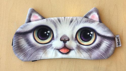 Sleep Mask Gel-filled (Grey Cat Mouth)