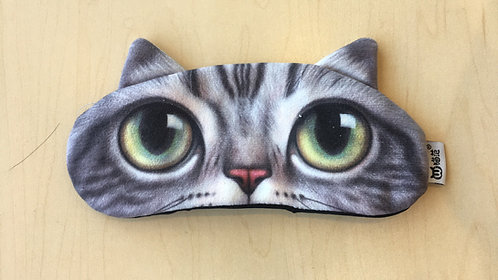 Sleep Mask Gel-filled (Grey Cat)