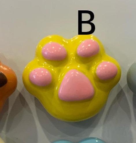 Ceramic Magnet (Yellow Paw)