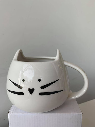 Mug (Large white cat)