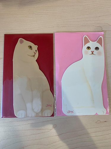 Cat-shaped Greeting Card