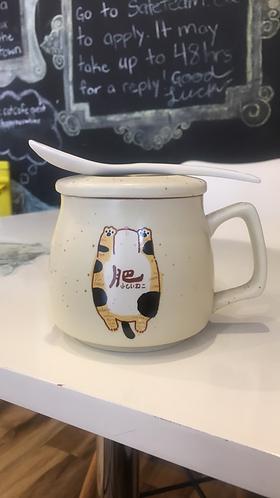 Mug (Beige with Spoon)