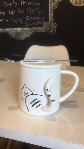 Mug (Cat with Tail and Spoon)