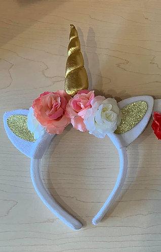 Catnicorn Headband (White and Pink)