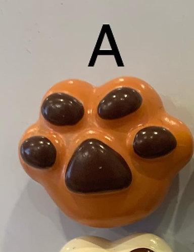 Ceramic Magnet (Orange Paw)