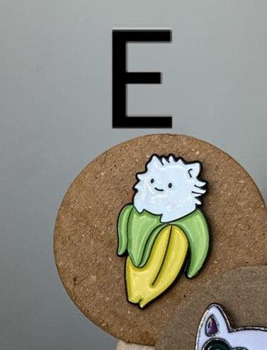 Metal Pin (Fluffy Banana)