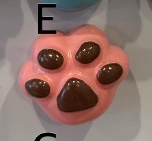 Ceramic Magnet (Pink Paw)