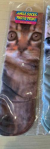 Long Graphic Socks (Brown)