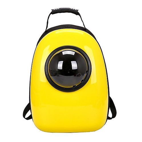 Cat carrier backpack yellow