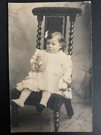 Little Doris with her Doll