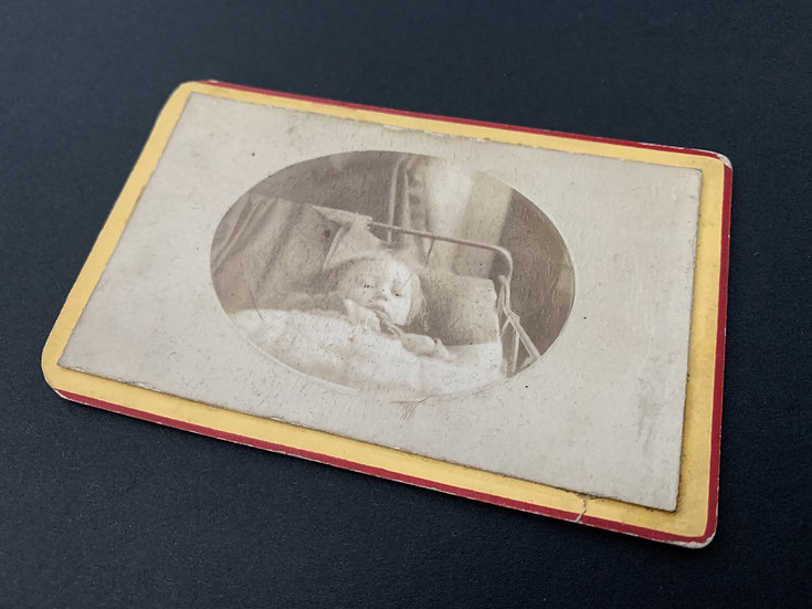 Post Mortem Child with drawn in eyes