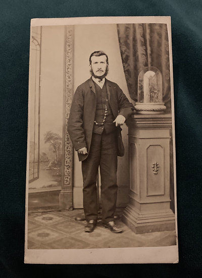 Gentleman with a Posing Stand