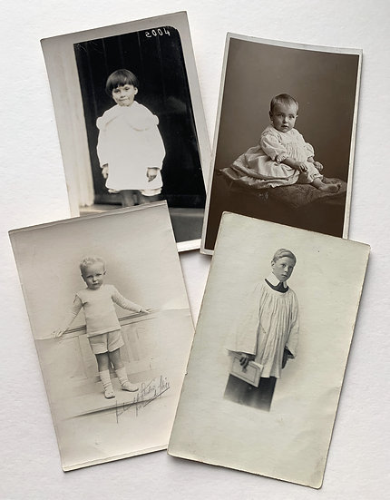 Set of 4 Edwardian Real Photo Postcards