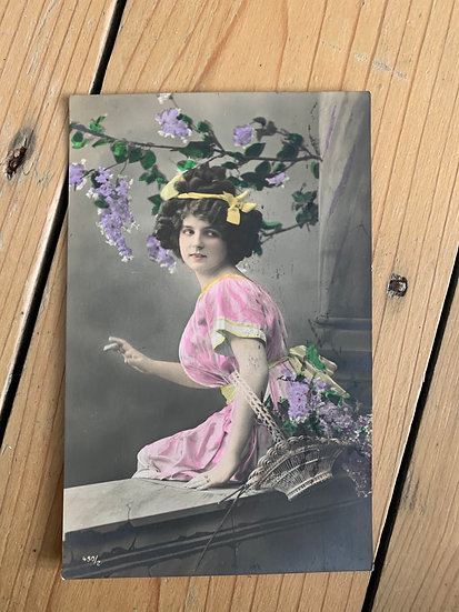German Hand tinted Postcard