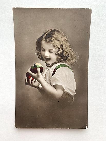 Hand coloured Edwardian Postcard
