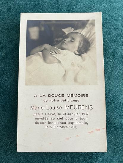 Post Mortem Memorial Card