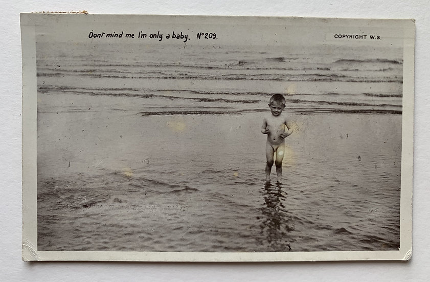 """""""I'm Only A Baby"""" c1920s Postcard"""