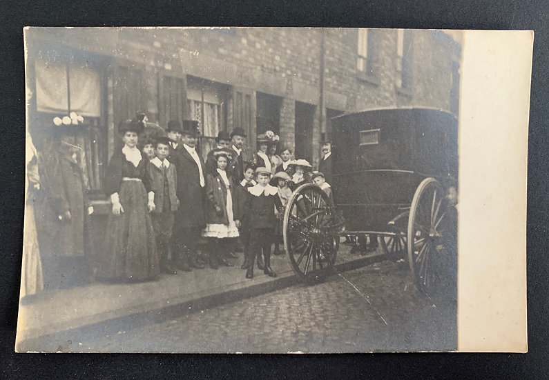 Very Early Postcard British Street Scene