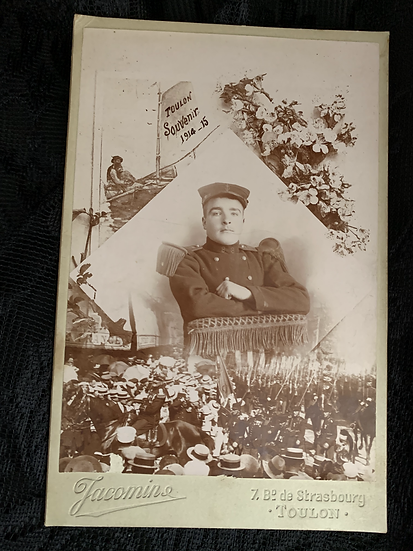French Military Souvenir Cabinet Card (not CDV)