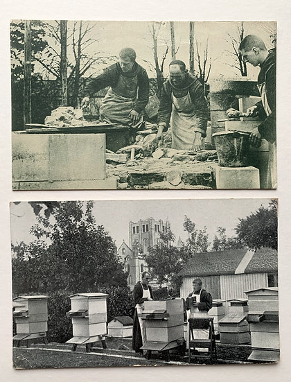 2 x Postcards - Brother at Work 1920s