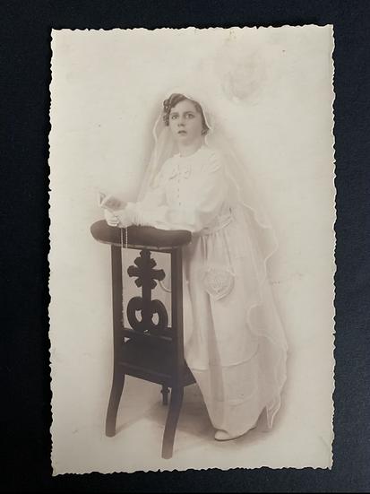Older Girl Holy Communion Postcard
