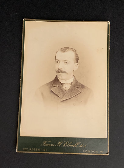 Gentleman with an Odd Eye - Cabinet Card