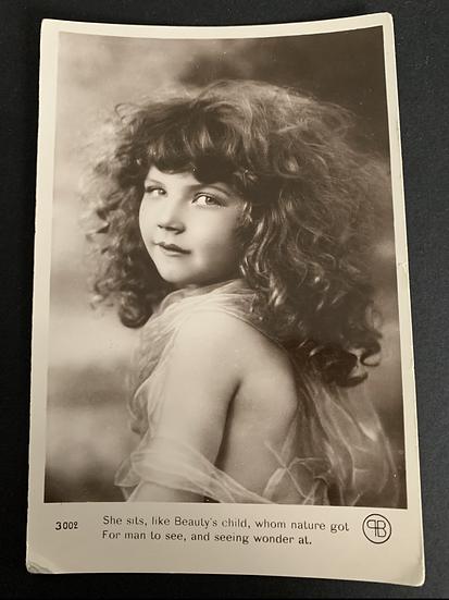 Beautiful Child French Print Postcard