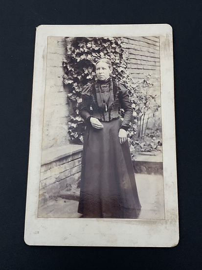 Victorian Lady Outdoors - Cabinet Card