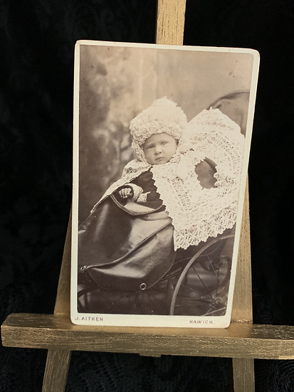 Victorian Baby with Opulent Shawl & Bonnet