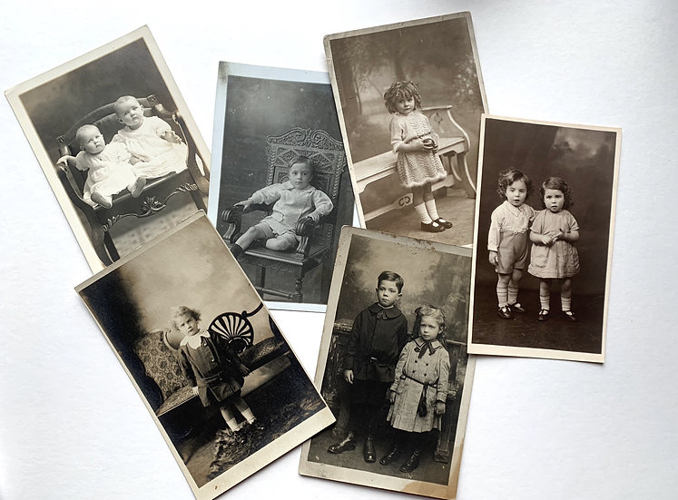 6 x Edwardian Real Photo Postcards