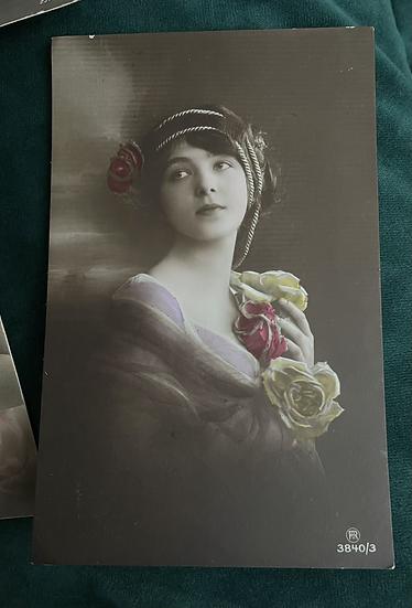 5 x Art Nouveau British Postcards