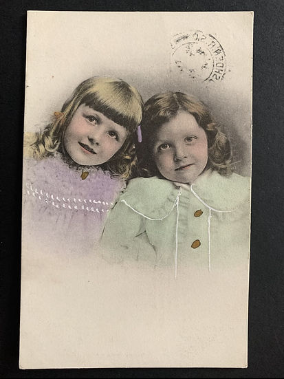 1905 Hand Tinted Portrait of Girls
